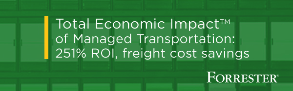 Total Economic Impact of Managed Transportation: 251% ROI and freight cost savings, according to independent study commissioned by Transportation Insight.